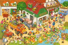 Praatplaat boerderij / ferien-auf-dem-bauernhof The Farm, Wassily Kandinsky, Gustav Klimt, Illustrator, Right Brain, Picture Story, Everyday Activities, Farm Theme, How To Speak French