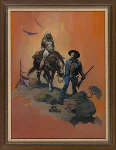 Another Frazetta image with a western theme. More of this would have been a great boon for the western book publishers.