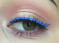 Rose Gold & Cobalt Blue #makeup #wetnwildcosmetics #cobaltblueliner #loreal #amberrush