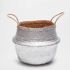 CONVEX SILVER BASKET WITH HANDLES - Laundry Baskets - Bathroom | Zara Home United States of America