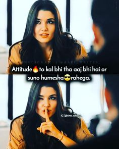 Attitude Shayari, Attitude Quotes For Girls, Crazy Girl Quotes, Funny Girl Quotes, Girl Attitude, Cute Love Quotes, Girly Quotes, Quotes About Moving On From Love, Fake People Quotes