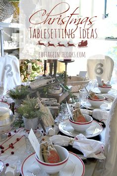 Christmas dinner is a special time in our home; so setting the Christmas table in unique, fun ways is a big part of our holiday. Here are some great ideas to inspire……. Christmas Love, All Things Christmas, Christmas Holidays, Christmas Crafts, Christmas Goodies, Vintage Christmas, Christmas Ideas, Christmas Table Settings, Christmas Tablescapes