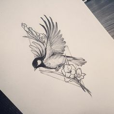 ▷ beautiful tattoo design ideas and how to choose the best for you - Vögel - Tattoo Designs For Women Kunst Tattoos, Body Art Tattoos, Tattoo Drawings, Sleeve Tattoos, Tattoo Arm, Sketch Tattoo, Bird Drawings, Arm Tattoo Ideas, Drawing Birds