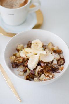 Apple Banana Breakfast Oats #glutenfree #vegan