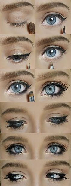 beautiful eyeliner and makeup for big, blue eyes | followpics.co