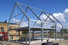 Modern Barn House, Barn House Plans, Small House Plans, Modern House Design, Steel Frame House, A Frame House, Steel House, Steel Building Homes, Building A House