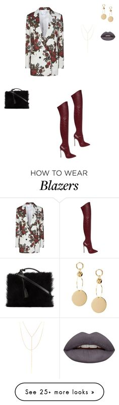 """""""Untitled #115"""" by yazzaulu on Polyvore featuring George J. Love, Casadei, South Moon Under, Mark Cross and Huda Beauty"""