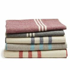Striped Wool Throw - or the OG Hudson's Bay blanket - a must have in my future home :)