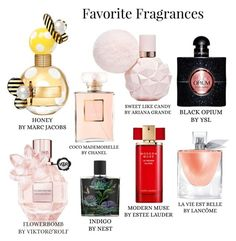 """My Favorite Fragrances"" by mayacblls on Polyvore featuring beauty, Yves Saint Laurent, Nest, Marc Jacobs, Lancôme, Viktor & Rolf, Chanel and Estée Lauder"