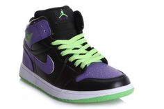 Men Air Jordan 1 Black Purple Green Shoes,cheap price only need 63$,press the picture learn more about it