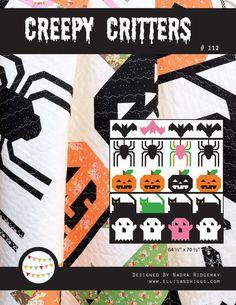 PDF Quilt Pattern  Creepy Critters
