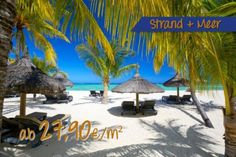 Fototapete Strand & Meer - Relaxen am Strand von Mauritius