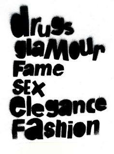 Rock and Roll drugs glamour fame sex elegance fashion guitars swag rocking items