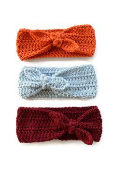 Top Knot Crochet Headband by WildChildHeadbands on Etsy
