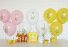 Pineapple and Flamingo party supplies