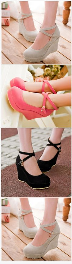 534s154 sexy romantic high wedge strappy pump,w pandents, size 34-39, beig @ernest2385