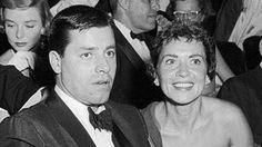 Jerry Lewis con Patti Palmer. Su matrimonio duró 36 años y tuvieron seis hijos (Getty)