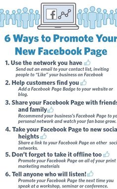 6 Ways to Promote Your New Facebook Page