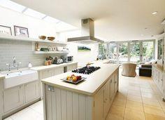 67 Ideas For Kitchen Ideas Open Plan Victorian Terrace Kitchen Paint, Kitchen Tiles, Kitchen Layout, Kitchen Decor, Kitchen Design, Kitchen Shelves, Wall Cupboards, Kitchen Cabinets, Long Kitchen