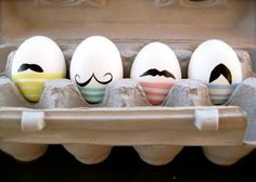 #DIY Mustache Eggs! 7 Ingenious Egg Decorating Ideas