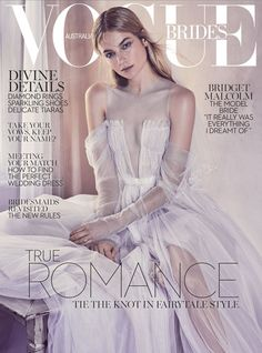Bridget Malcolm covers the 2017 issue of Vogue Brides.