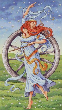 X - La roue de la fortune - Tarot déesse universelle par Antonella Platano & Maria Caratti