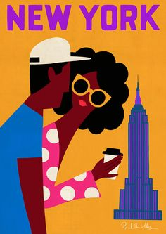 New York Poster © 2016 by Paul Thurlby.  Paul Thurby is an illustrator living in London.    http://www.paulthurlby.com/