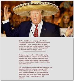 Trump's company secures trademarks in Mexico Mexico City law firm quietly filed for trademarks while Trump sparred with country over trade, border wall.