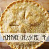 chicken pot pie recipe (I think I would minus carrots and peas, and maybe do some broccoli)