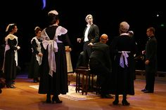 """""""You Did It"""" -Henry Higgins (Charles Shaughnessy) and company. PHOTO BY PAUL LYDEN"""