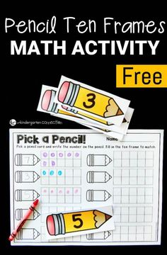 This ten frame activity is a great math center for Pre-K or Kindergarten…