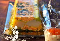 La terrine de Saint-Jacques au saumon en gelée