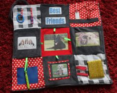 Memory / Fidget lap blanket. Anybody who likes dogs will love this. Ideal for use with wheelchair. Soft, warm, different! Free Shipping
