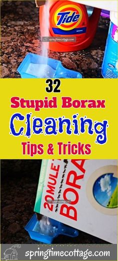 The type of chores that Borax can help you with will surprise you. It will help you to clean a wide array of things around the home and will boost your laundry. Borax can also be used with Murphy oil soap to create a powerful wash for clothes and hats. Keep reading to discover the wide array of uses and cleaning hacks for Borax that you'll wish you knew sooner.  #borax #boraxcleaning #boraxcleaninghacks #cleaninghacks #cleaningtips Borax Cleaning, Cleaning Hacks, Home Organization Hacks, Natural Cleaners, Household, Laundry, Soap, Stains, Canning