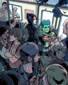 Teen Titans Go, Teen Titans Raven, Teen Titans Fanart, Best Cartoon Characters, Gabriel Picolo, Raven Beast Boy, Original Teen Titans, Univers Dc, Rabe