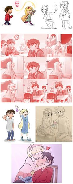 Idk... Just... these two are adorkable Character: Star vs. The Forces Of Evil Art: drawing-Heart