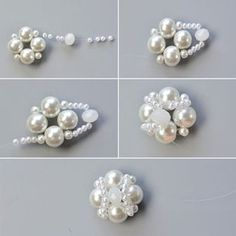 How to Make a Handmade White Pearl Bead Bracelet With Bead Flower Decorated: Do you love pearl bead bracelets? This article will show you how to make a handmade white pearl bead bracelet with bead flower decorated. Beaded Bracelet Patterns, Beading Patterns, Beaded Bracelets, Embroidery Bracelets, Beading Ideas, Bead Jewellery, Diy Jewelry, Jewelry Making, Jewelry Necklaces