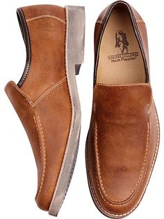 Shoes - Hush Puppies Reminisce Tan Slip-On Shoes - Men's Wearhouse