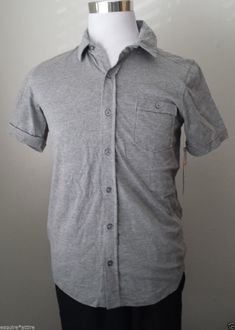 Seven 7 men size S short sleeve front button #shirt NWT gray (80% cotton ) visit our ebay store at  http://stores.ebay.com/esquirestore