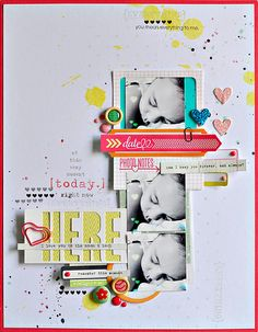 #papercraft #scrapbook #layout   Here by ~Sasha, via Flickr