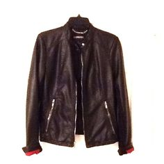 Black, Express moto jacket. Size medium Faux leather, like new condition Express Jackets & Coats
