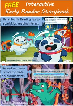 #Free interactive early reader storybook - Incredi-Ride, with many helpful features helping kids learn reading #FreeApps #kidsapps