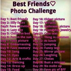 Photo challenge with best friend