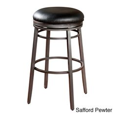 Add style to your home with this American Heritage Silvano Stool. This backless stool has a soft bonded leather cushioned seat and a foot rest for added comfort. The fun swivel will keep you comfortably in the conversation. 30 Inch Bar Stools, Metal Counter Stools, Black Bar Stools, Swivel Bar Stools, Black Stool, Bar Chairs, Room Chairs, Backless Bar Stools, Upholstery Cushions