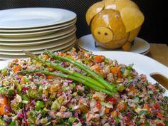 Lady D's Vegan Rainbow Sesame Vegetable Salad