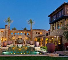 Tuscan Unique House Plans, Dream House Plans, My Dream Home, Dream Homes, Home Lottery, Huge Houses, Design Your Own Home, Mediterranean House Plans, Luxury Homes Interior