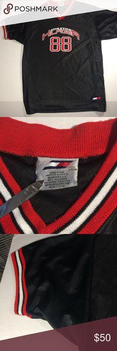55a474274c42 vintage tommy Hilfiger jersey 90s t shirt #88 M Vintage Tommy Hilfiger  Jersey Large #