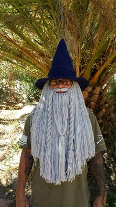 Crochet Wizard Hat and Beard by OurLittleThingsStore on Etsy