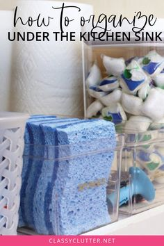 cleaning supplies organization Storing all of your cleaning supplies under the sink can be tricky! Learn our best tricks for keeping under the kitchen sink clean and organized! Under Kitchen Sink Organization, Under Kitchen Sinks, Clean Kitchen Cabinets, Painting Kitchen Cabinets, Kitchen Cabinet Design, Organization Ideas, Under Kitchen Sink Storage, Kitchen Designs, Cleaning Supply Storage