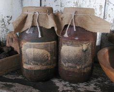 32 Oz. Sheep Jar Candles-jar candle, primitive, primitive candle, soy candle, jar candle soy, primitive soy jar candle, grungy, grungy jar candle, primitive grungy candle, needfuls, hand poured jar candle